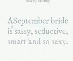 bride, September, and sexy image