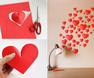 heart, diy, and red image