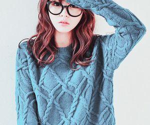 ulzzang, asian, and glasses image