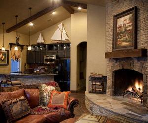 autumn, decor, and fireplace image