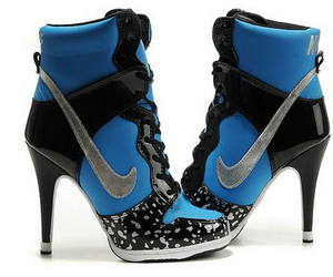 nike, blue, and heels image