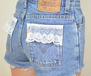 shorts, fashion, and lace image