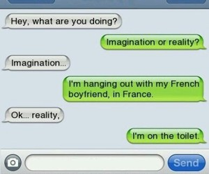 funny, texts, and friends image