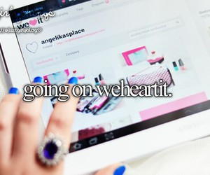 weheartit, justgirlythings, and we heart it image