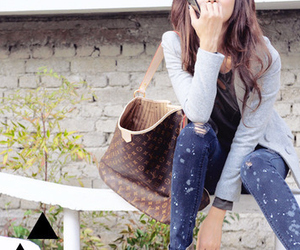 asian, girl, and jeans image