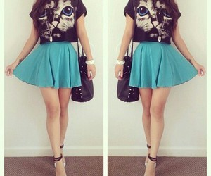 fashion, cat, and outfit image
