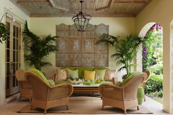 Enticing Tropical Living Room Decorating Ideas for Pictures ...