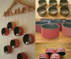 diy candle holders, arts project, and reused cans image