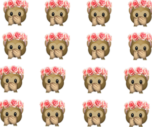 background, monkey, and floral crown image