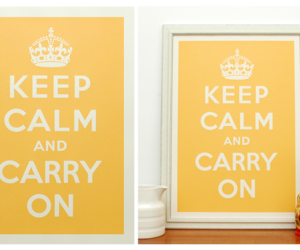 carry on, keep calm, and peace image