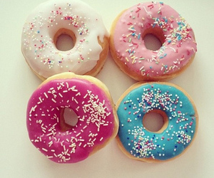 donuts, food, and pink image