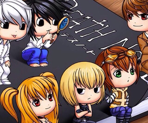 anime, death note, and chibi image