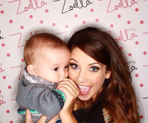 zoella, baby, and youtube image