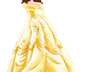 belle, disney, and princess image