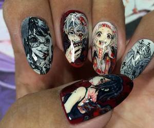 tokyo ghoul, anime, and nails image