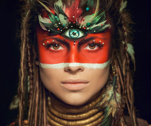 exotic, makeup, and tribal image