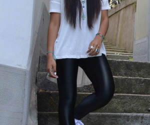 fashion, leatherpants, and streetstyle image