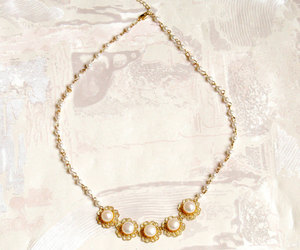 delicate, feminine, and necklace image