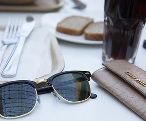 fashion, sunglasses, and food image