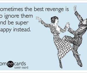 happy, revenge, and quote image