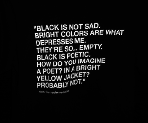 black, deep, and quote image