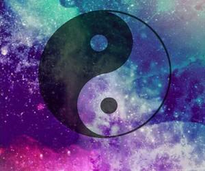 galaxy, yang, and wallpaper image