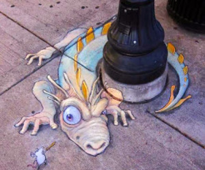 dragon, street, and street art image