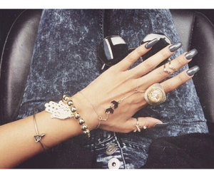 girl, jewelry, and nails image