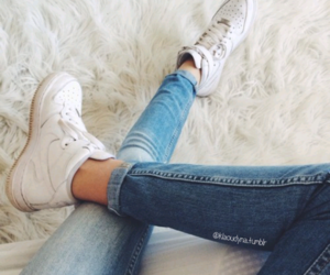 fashion, jeans, and nike image