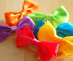 cute, bow, and colorful image