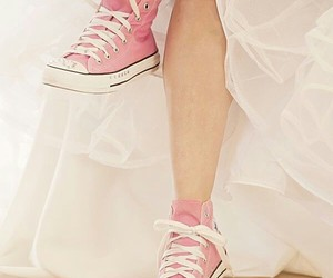 pink, converse, and shoes image