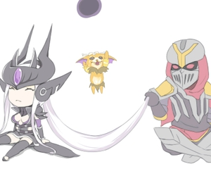zed, syndra, and league of legends image
