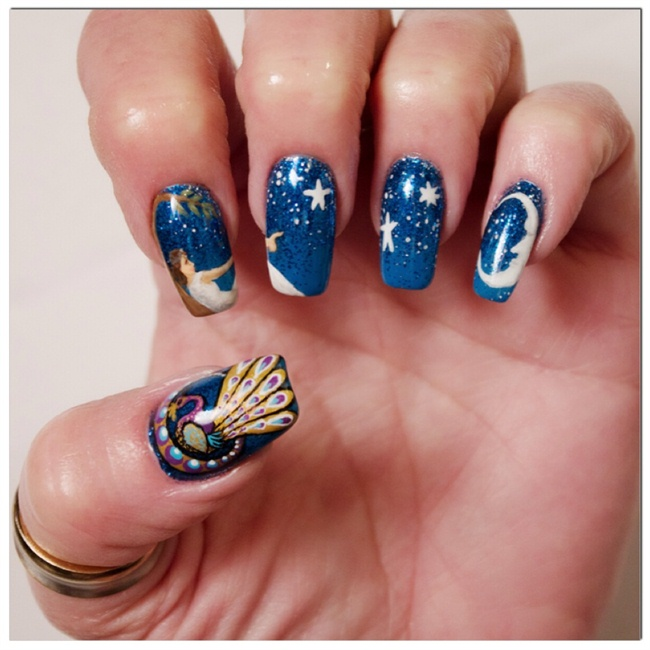NTNA Pre-Challenge 2: Hand-Painted - Nail Art Gallery Step-by-Step ...