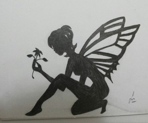 art, draw, and fairy image