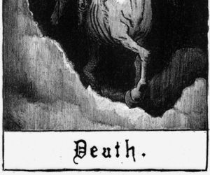 death and black and white image