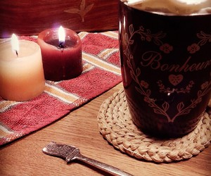 autumn, mug, and candles image