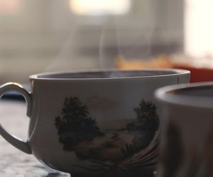 drink, coffie, and food image