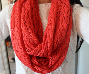 scarf, fashion, and red image