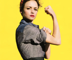 alexis bledel, rosie the riveter, and woman image