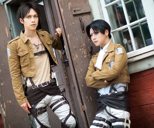 cosplay, levi, and eren image