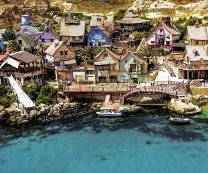 blue, malta, and paradise image