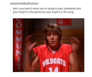 high school musical, funny, and Basketball image