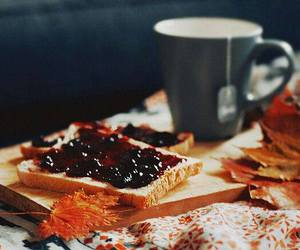 autumn, tea, and food image