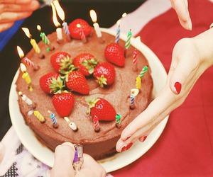 cake, birthday, and chocolate image