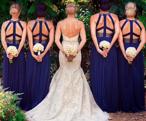 accessories, bridesmaids, and bouquets image