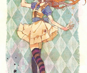 anime girl, alice, and alice in wonderland image