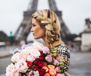 flowers, paris, and blonde image