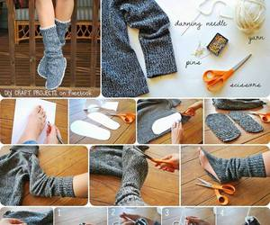 diy, socks, and tutorial image