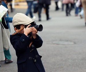 boy, hat, and camra image
