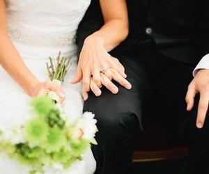 wedding, bride, and couple image